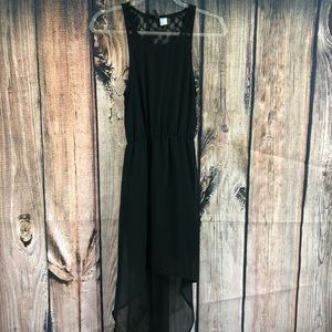 Divided Little Black High Low Dress Size 2
